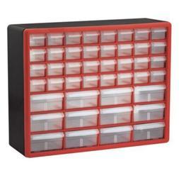 Storage Cabinet Organizer Akro-Mils 44 Drawer 10144Redblk Pl