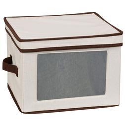 New Storage Chest Box Bin Kitchen 12 Set Dinner Plates Bowls Dishes China