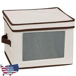 New Storage Chest Box Bin Kitchen 12 Set Dinner Plates Bowls