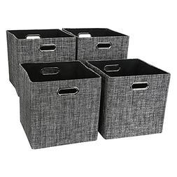 Storage Cube Basket Bin,Foldable Closet Organizer Shelf Cabi