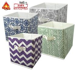 Storage Cube Basket Fabric Drawers Best Cubby Organizer Box