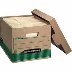 """Fellowes Storage File Boxes w/Lid 550 lb 12""""x15""""x10"""" 20/CT K"""