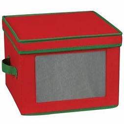 Storage and Organization Holiday Dinner Plate Chest with Gre
