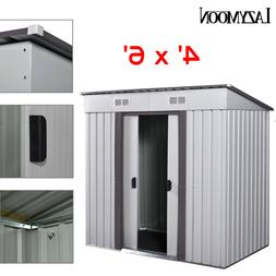 4' x 6' Outdoor Storage Shed Box Steel Utility Tool Backyard