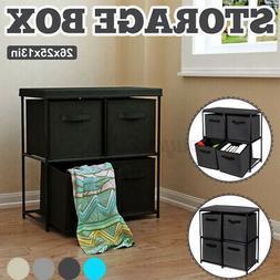 Storage Shelf Unit Drawers Rack Closet Organizer With 4 Fold
