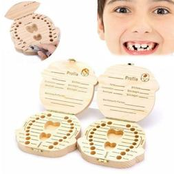Storage Small Kid Child New Baby Tooth Keepsake Wooden Box C