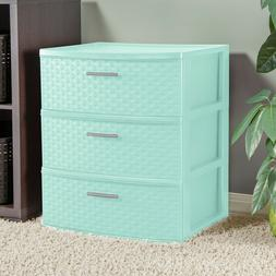storage tower 3 drawer plastic cabinet clothes
