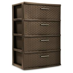 storage tower 4 drawer plastic cabinet clothes