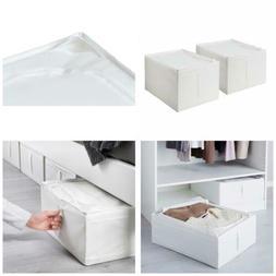 Ikea Storage Underbed Box Closet Zippered  White