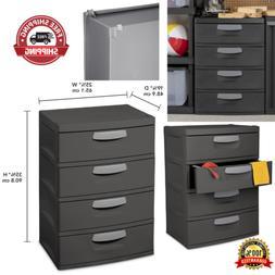 Storage Unit 4 Drawer Durable Organizer Garages Basements He
