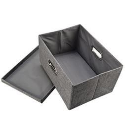Storage Box, Yamix Fabric Collapsible Storage Containers Clo