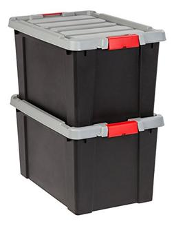 IRIS 19 Gallon Store-it-All Heavy Duty Stackable Utility Tot
