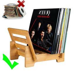 Sturdy Vinyl Record Display Stand Desktop LP Storage Rack Ba
