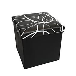"""Otto & Ben 15"""" Storage Ottoman - Folding Toy Box Chest with"""