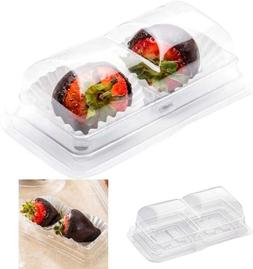 Thermo Tek 5 Oz Clear Plastic Pastry Box - With Lid, Duo - 5
