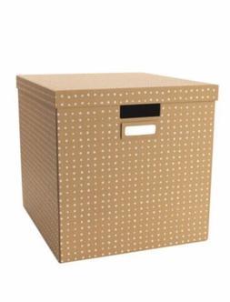 Tjena Brown With Lid Ikea Storage Box