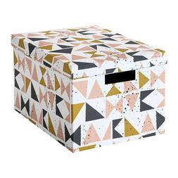 IKEA Tjena Storage Box With Lid White Black Pink 403.982.15