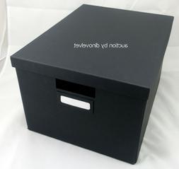 """TJENA IKEA STORAGE BOX WITH LID BLACK 10 3/4"""" X 13 3/4"""" X 7"""