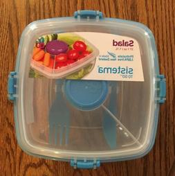 Sistema To go container lunch plastic salad bowl with lid fo