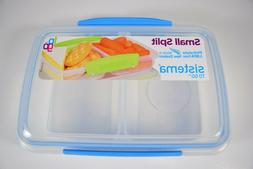 Sistema To Go Small Split 11.8 oz, Blue, Phthalate & BPA Fre
