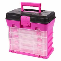 Juvale Tool Box Organizer Includes 4 13-Compartment Slideout
