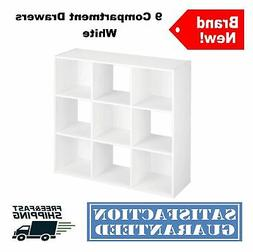 Tower Shelves White Kids Living Room 9 Cube Organizer Bookca