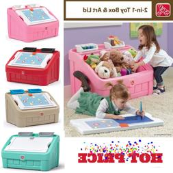 Toy Box 2 in 1 Art Lid And Kids Storage Chest Fit In Kid's