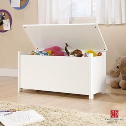 Toy Storage Box Chest Bin WHITE Large Organizer Kids Bedroom