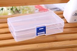 Lautechco 3pcs Transparent Box Cosmetics Storage Box Plastic