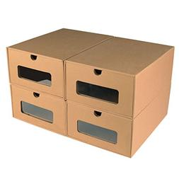 Nicely Neat Transparent Shoe Box Drawers - Stackable Storage