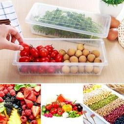 Transparent PP Kitchen Fridge Food Storage Box Container Org