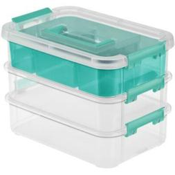 Tray Orgnzr Stack/Carry 3 Clr