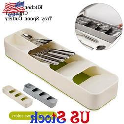 Tray Spoon Cutlery Drawer Storage Box Kitchen Separation Fin