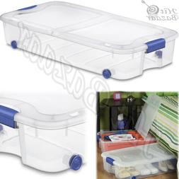 under bed storage box containers tubs stackable