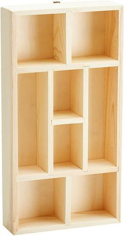 unfinished wood tea box storage organizer