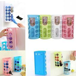 Unique Kitchen Bag Holder Dispenser Box Wall Mount Recycle F