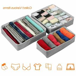 US 3Pcs Sock Bra Underwear Closet Drawer Organizer Storage B