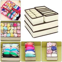 US 4 Foldable Organizer Drawer Storage Box Case For Bra Ties
