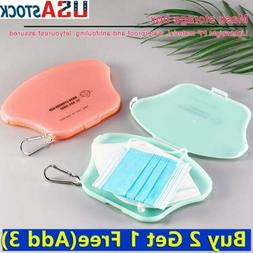 US Face Mask Storage Case Face Shield Holder Portable Box Tr