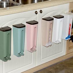 US Plastic Grocery Bag Holder Wall Mount Storage Box Dispens