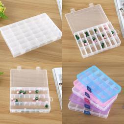 US STOCK Plastic Adjustable Jewelry Storage Box Case Craft O