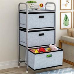 USA 3 Drawers Storage Shelf Chest Unit Storage Cabinet Close