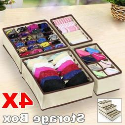 USA Foldable Drawer Organizer Divider Closet Storage Box For