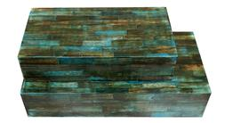 verdigris covered keepsake decorative storage organizer box