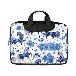 Veronica Rockefeller 11-Inch Laptop Bag,Beautiful Floral Hor