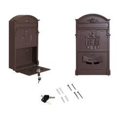 Vintage Retro Cast Wall Mount Security Mailbox Letter Safe S
