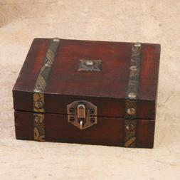 vintage wooden box treasure case decorative trinket