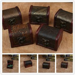 Vintage Wooden Decorative Trinket Small Boxes Storage Jewelr