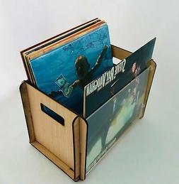 Vinyl Record Storage Box with Acrylic Album Display
