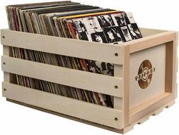 Vinyl Record Storage LP Crate Album Box Holder Vintage Case